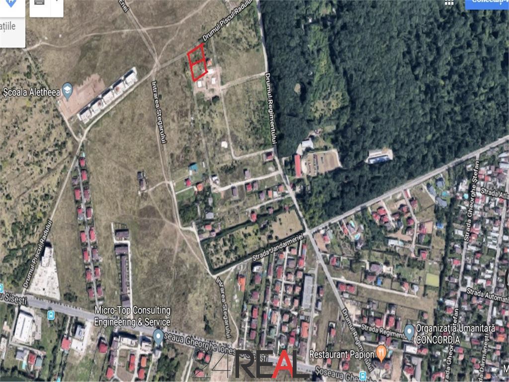 Teren 1280 mp zona Jandarmeriei posibilitate P+4+2 etaje