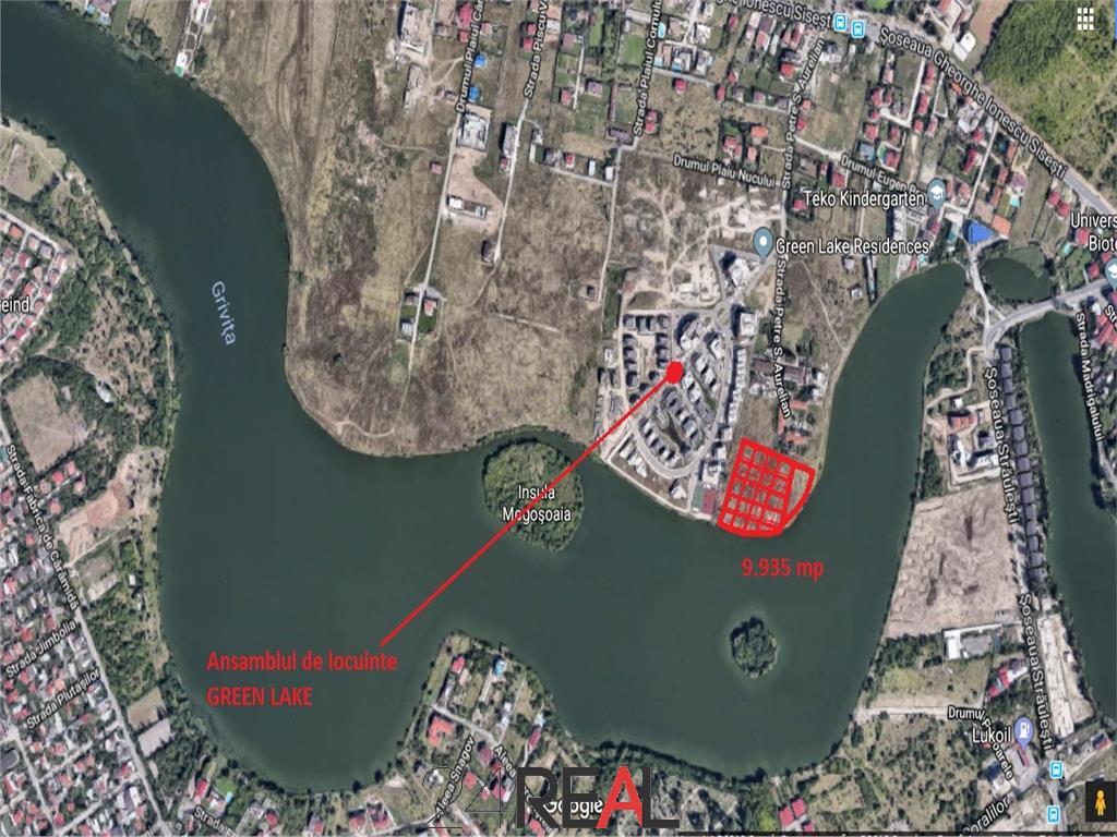 Vanzare teren Baneasa-Sisesti 9.935mp pe malul lacului Grivita