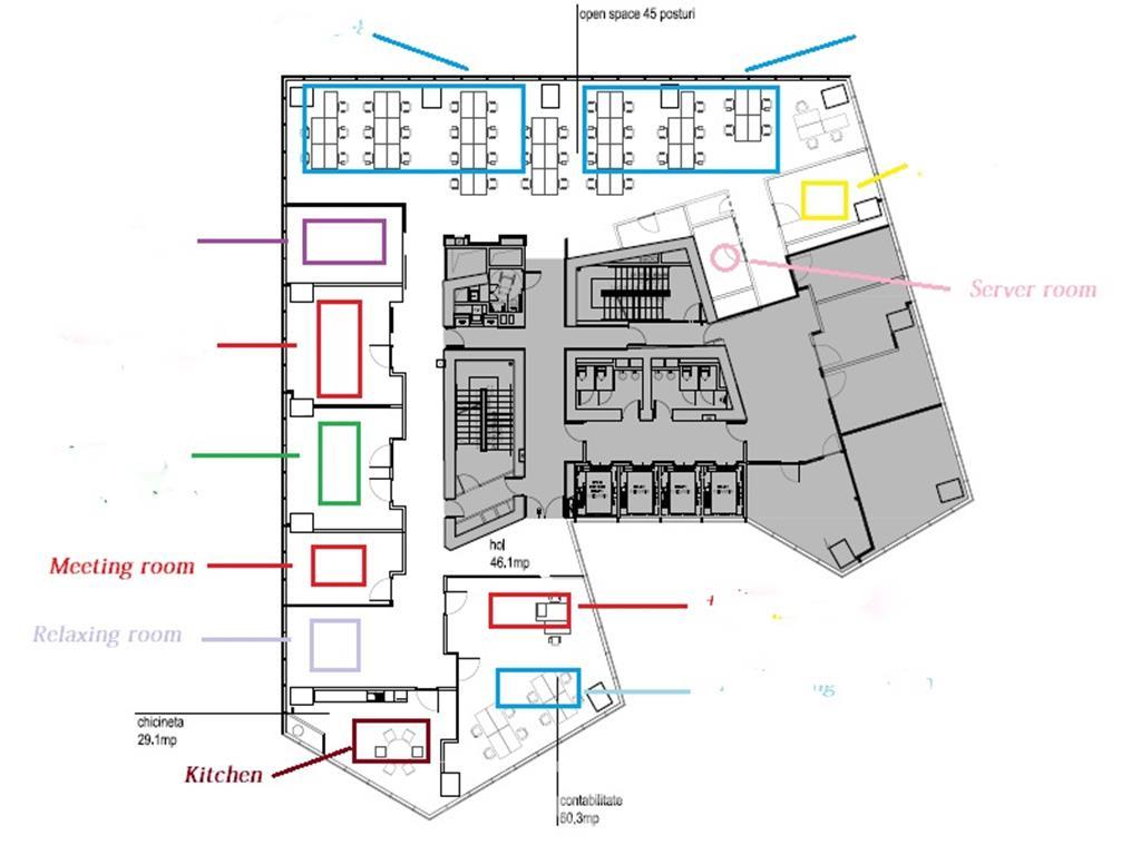 Inchiriere birouri mobilate si utilate, Olympia Tower, de la 350mp