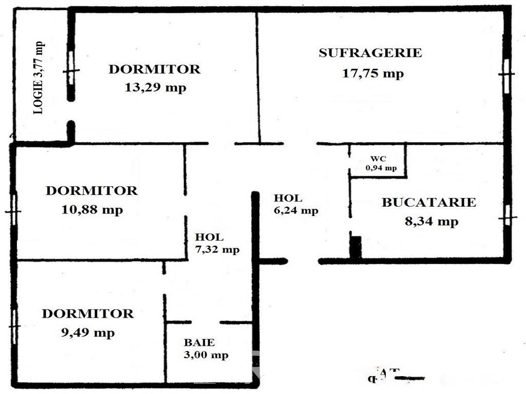 4 camere  decomandat - Piata Domenii - zona linisitita