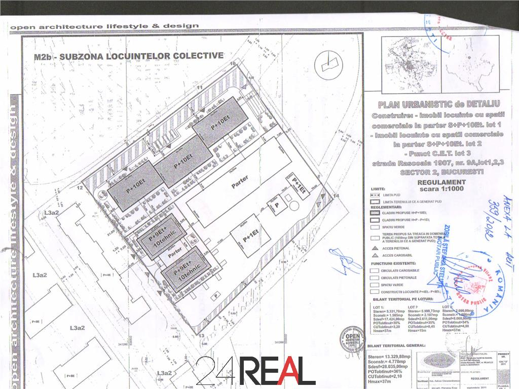 Vanzare teren Colentina 5330 mp sau schimb cu apartamente construite