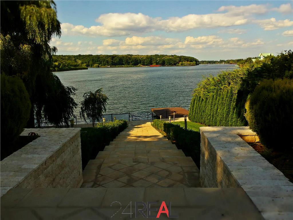 Vanzare vila inchiriata Snagov - vedere Lac